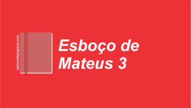 Mateus 3 Esboço de Pregação
