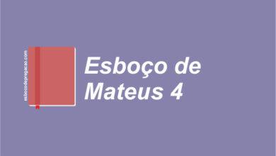 Mateus 4 esboço de pregação
