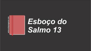 Salmo 13 esboço de pregação