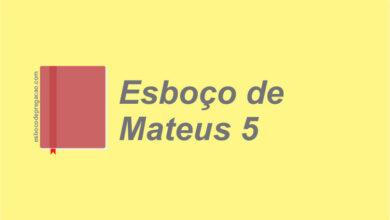 Mateus 5 esboço de pregação