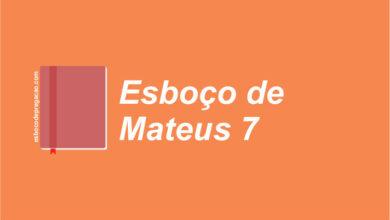 Mateus 7 esboço de pregação